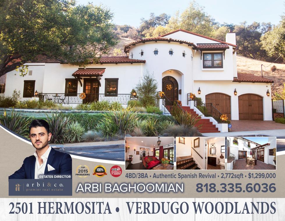 Arbi Baghoomian, 2501 Hermosita Glendale, Glendale Real Estate, Glendale Ca, Burbank Ca,