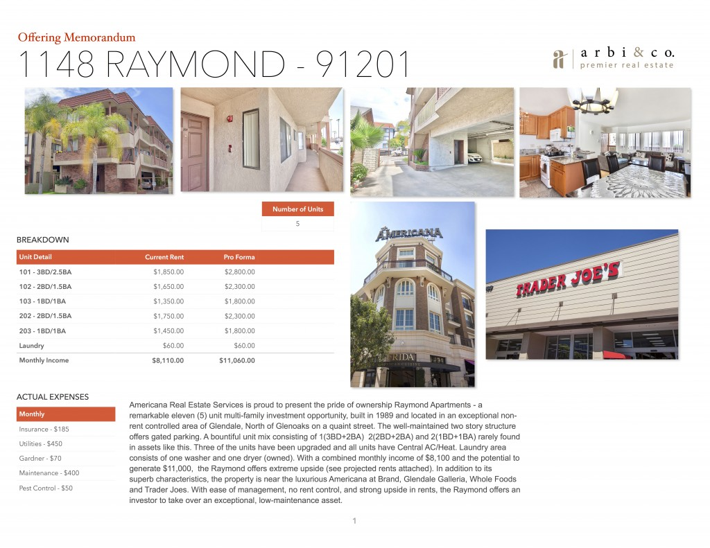 1148 Raymond Glendale Ca